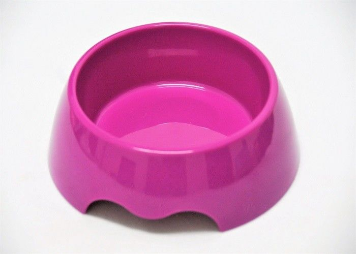 Middle Size Dog Plastic Pet Bowls Purple Color Food Grade ABS  With Anti Skidding